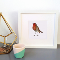 'Robin Love' Limited Edition Framed Print