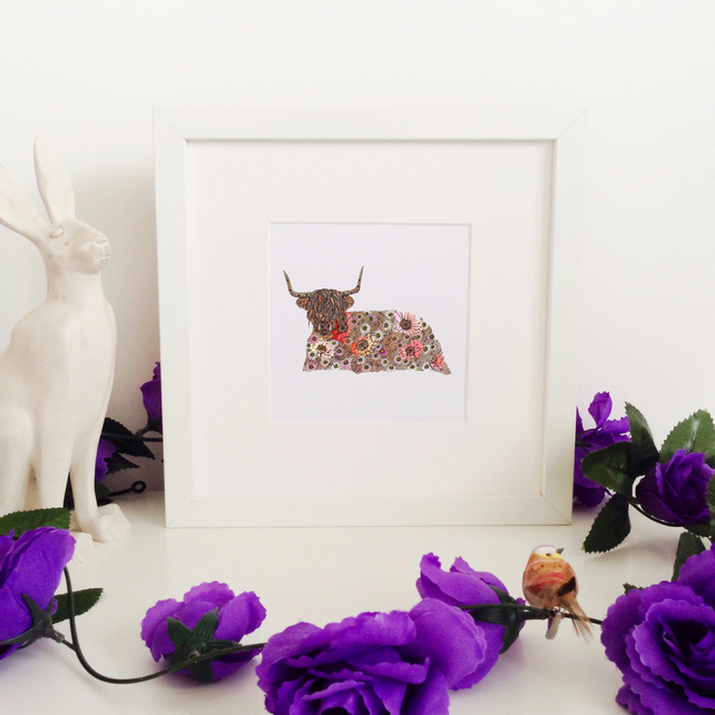 'Highland Cow' Limited Edition Framed Print