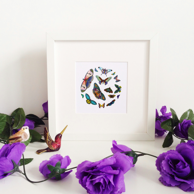'Butterflies' Limited Edition Framed Print