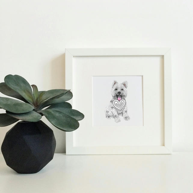 'Westie Love' Limited Edition Framed Print
