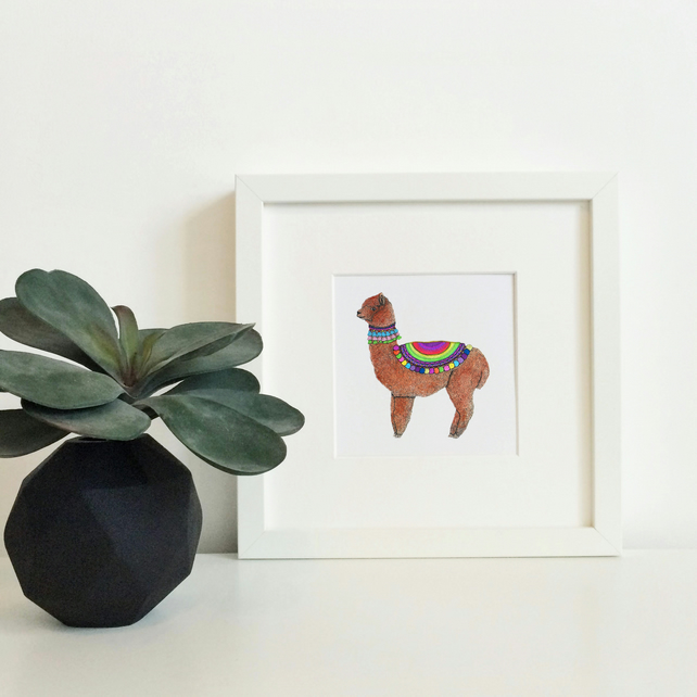 'Albie' Hand Finished Framed Print