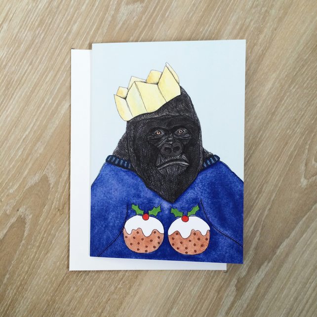 'Gorilla' Christmas Card