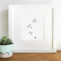 'The Bees' Hand finished Framed Print