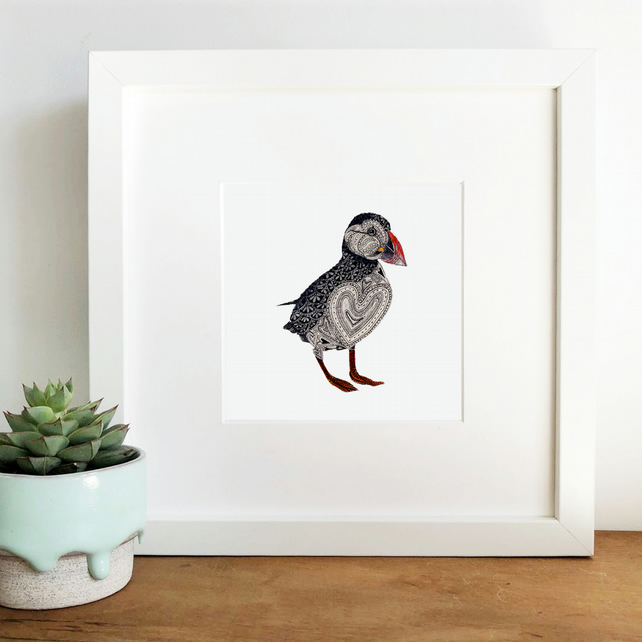 'Puffin Love' Framed Print