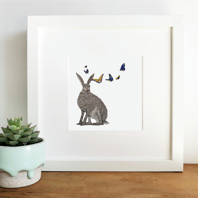 'Iris' Hand Finished Framed Print