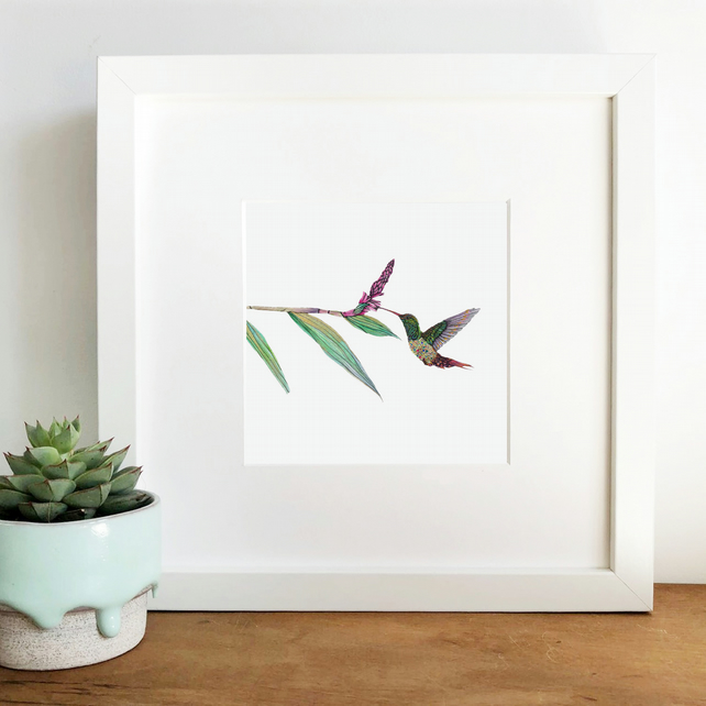 'Jewel' Hand Finished framed Print