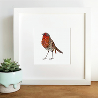 'Robin Love' Framed Print