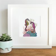 'Seahorses' Hand Finished Framed Print