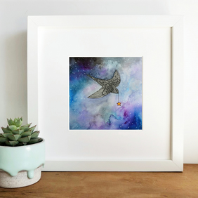 'Star Light' Hand Finished Framed Print