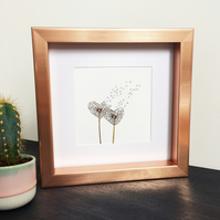 'Love Wish' Rose Gold Framed Print
