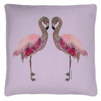 'Flamingo Love' Cushion Cover