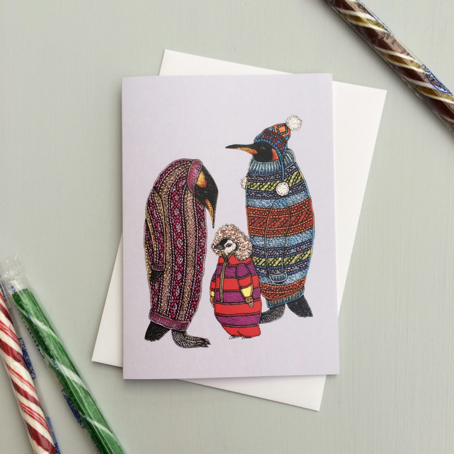 'Cardiguin Family' Card