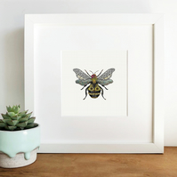 'Bee' Hand Finished Framed Print