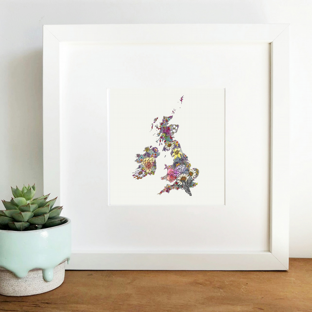 'Map' Framed Print