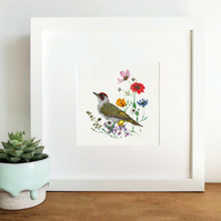 'Green Woodpecker' Framed Print