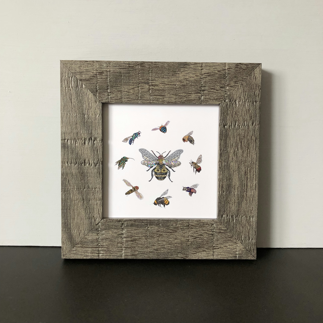 'Queen Bee' Mini Framed Print