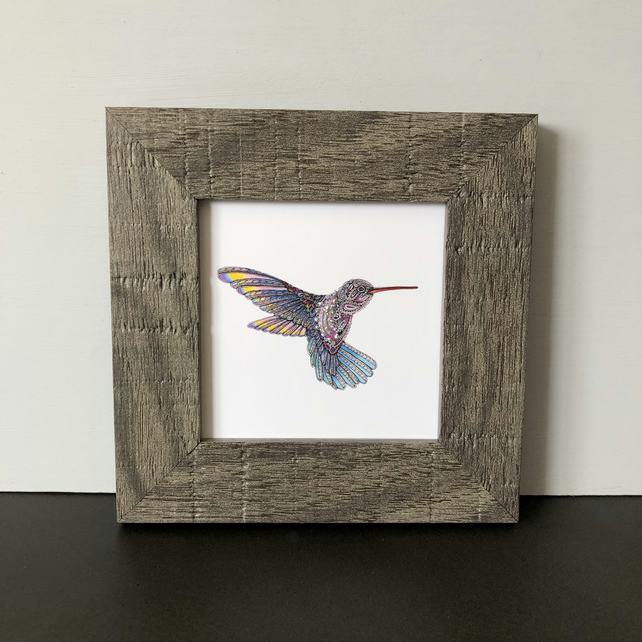 'Hummingbird' Mini Framed Print