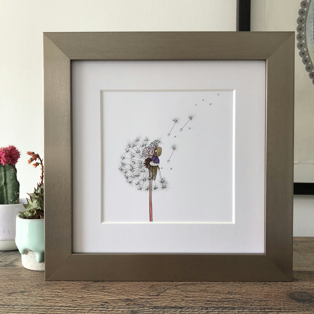 'Wish Fairy' Hand Finished Framed Print