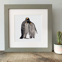 'Penguin Love' Framed Print