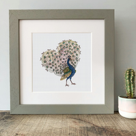 'Peacock Love' Framed Print