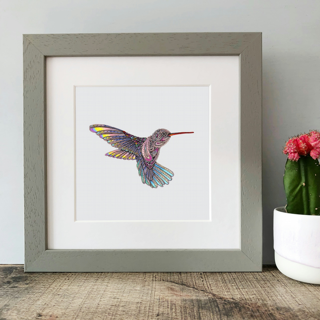 'Hummingbird' Framed Print