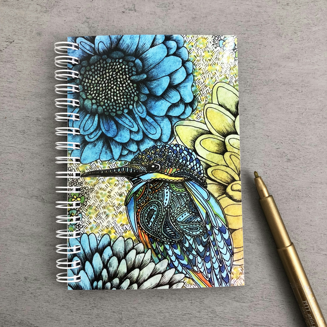 'Kingfisher' A6 Notebook