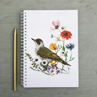 'Green Woodpecker' A5 Notebook