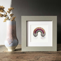 "-NEW- 'Search For Rainbows' 5"" x 5"" Framed Print"