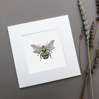 'Bee' Mini Mounted Print