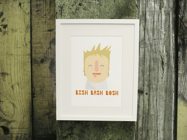 SALE 'Bish, Bash, Bosh' Kitchen Print