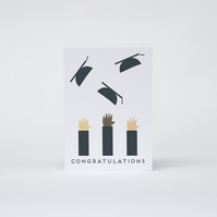'Congratulations' Throwing Hats Card