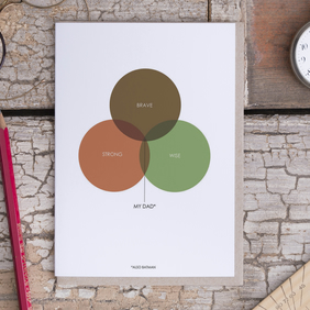 Dad Venn Diagram Card