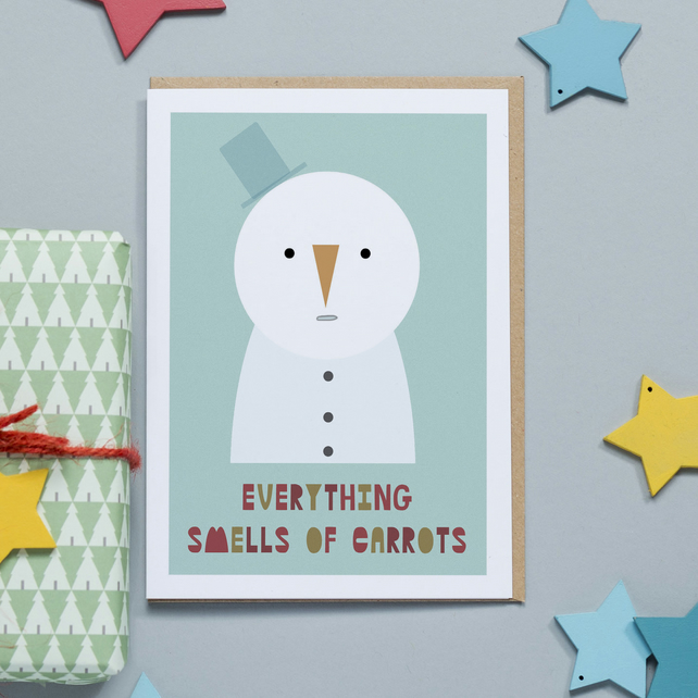 Christmas Card - Everything Smells of Carrots