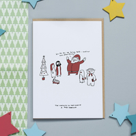 Christmas Card - Nativity in the mind of a four year old