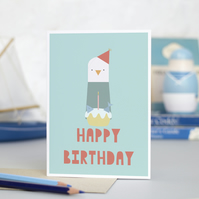 'Happy Birthday' Seagull Card