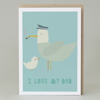 I love my dad gull card