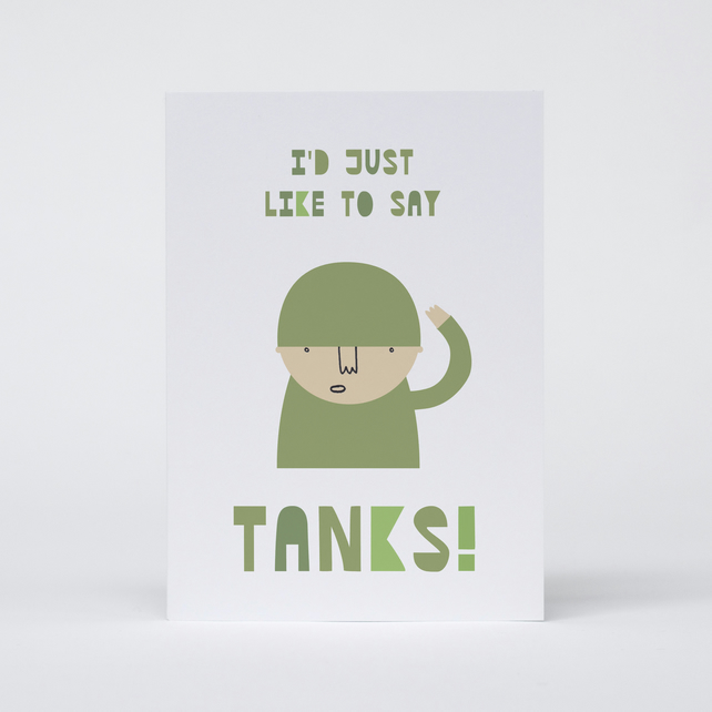 I'd just like to say Tanks Card