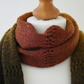 Wool scarf in autumn colours