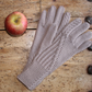 Taupe mink coffee merino wool gloves