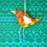 Orange Retro Bird