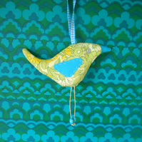 SALE Lime  Retro Bird