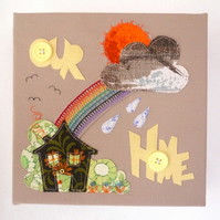 Home  Rainbow Fabric Art Picture
