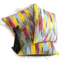 SALE Vintage Fabric Cushion