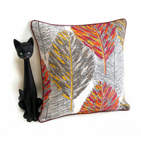 Vintage Fabric Leaf Cushion