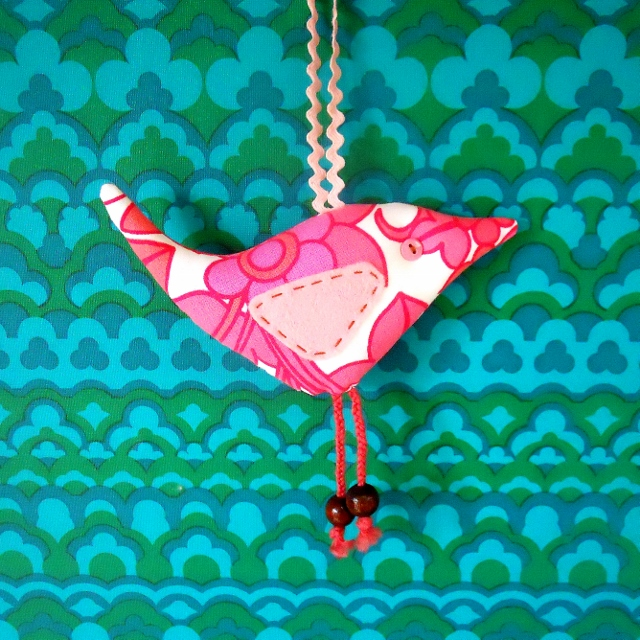 SALE PINK   Retro Bird