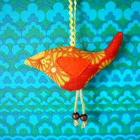 SALE Orange   Retro Bird