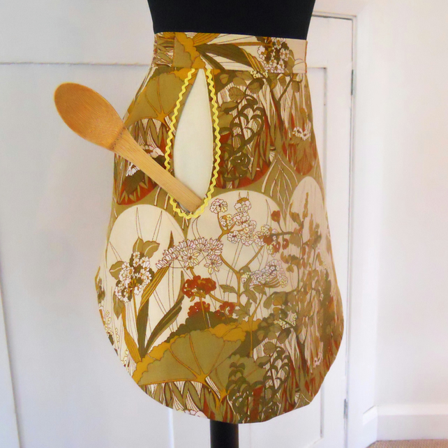 Vintage Fabric Retro Apron