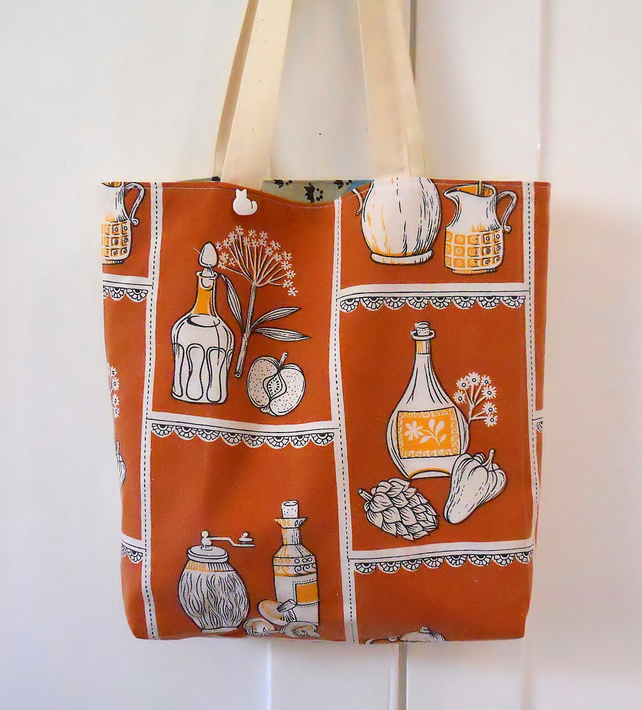 Vintage Fabric Shopping bag