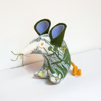 Hi SUMMER! Pretty  Vintage 60s Floral  Mouse