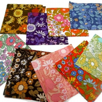 Vintage fabric  Patchwork pack - enough for CUSHION